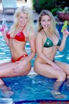 Girl on Girl Nude Feature Glam. April Lane & girlfriend Stacy poolside bikini glamour shoot.